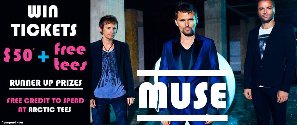 Win Muse Tickets with Arctic Tees and Scene Mag