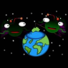 Alien Globe Fishing